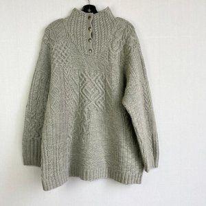 RALPH LAUREN Wool Gray Knit Sweater
